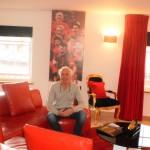 Mike in een van onze luxe appartementen