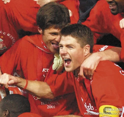 Gerrard and Xabi Alonso